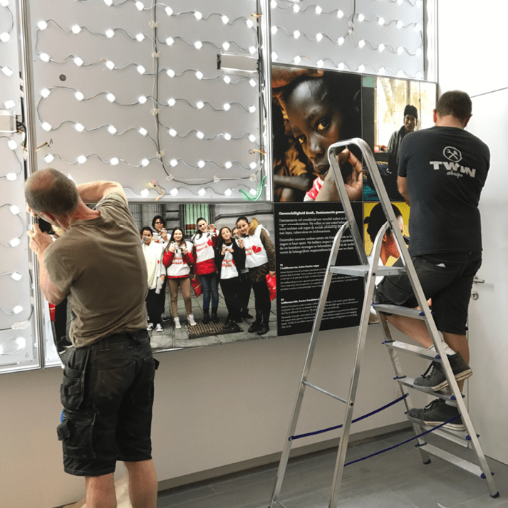 opbouw expositie led modules