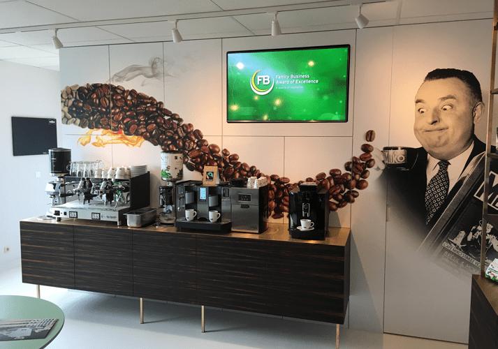 kastwrap kastprint koffie muur miko
