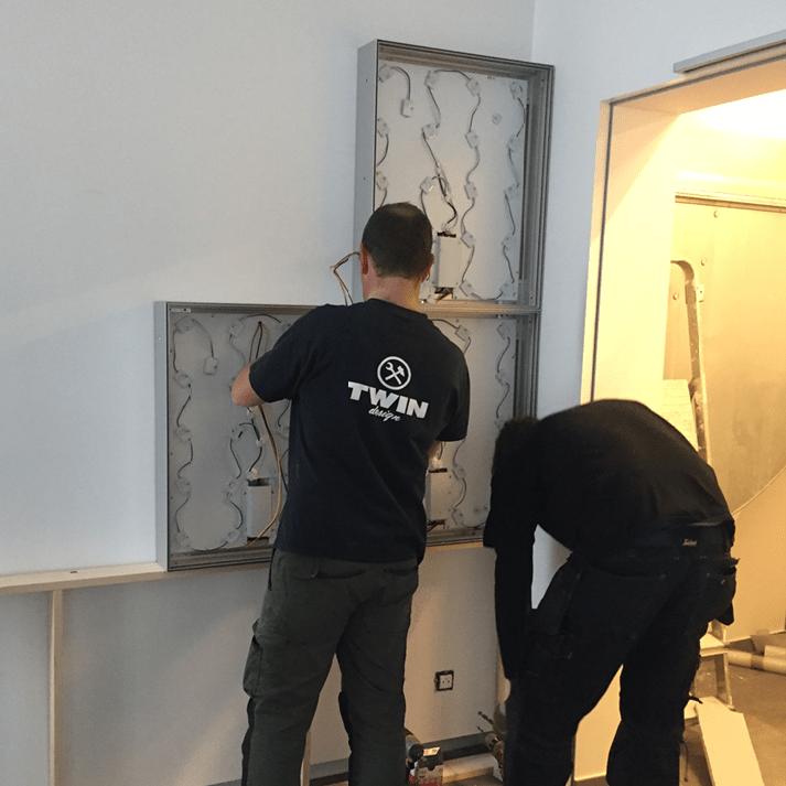 montage led-muur